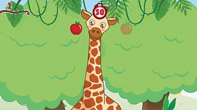 儿童画森林长颈鹿分享展示